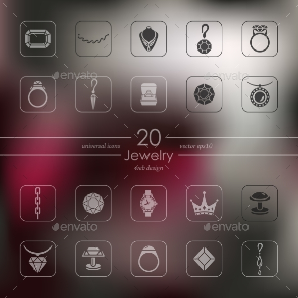 Set Of Jewelry Icons - Icons