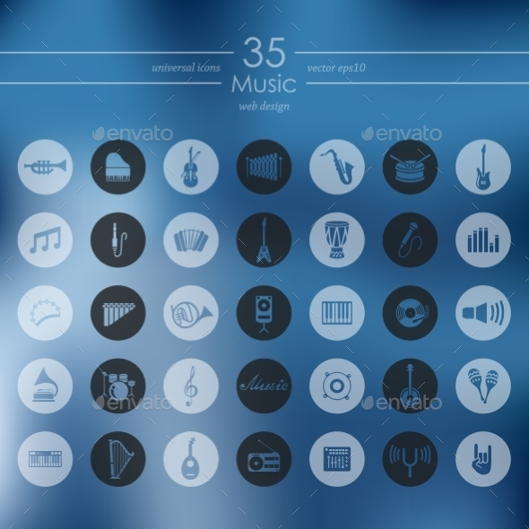 Set Of Music Icons - Icons