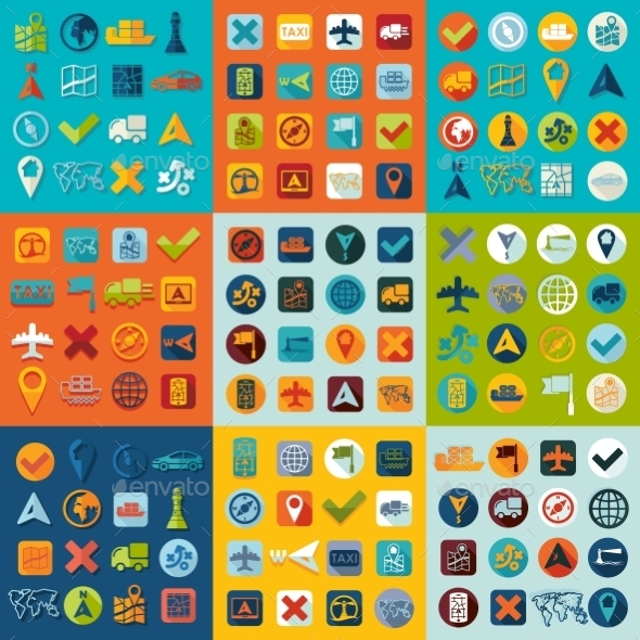 Set Of Navigation Icons - Icons