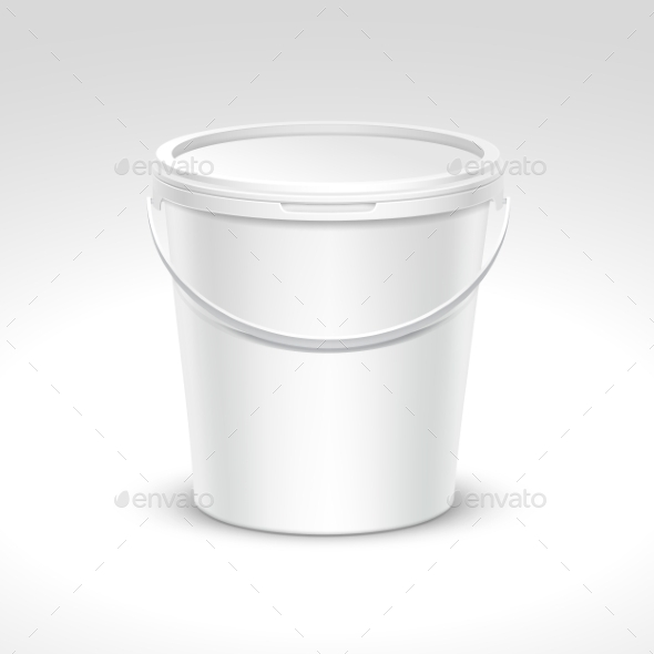 Plastic Bucket Container Packaging - Miscellaneous Vectors