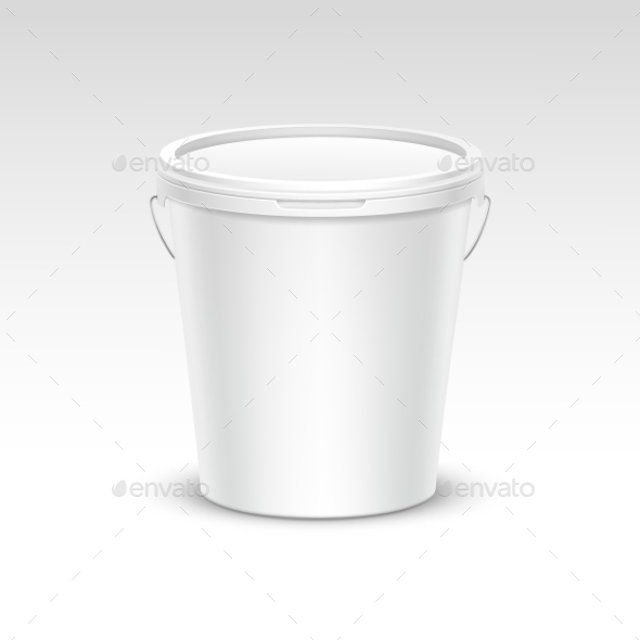 Plastic Bucket Container Packaging - Miscellaneous Vectors