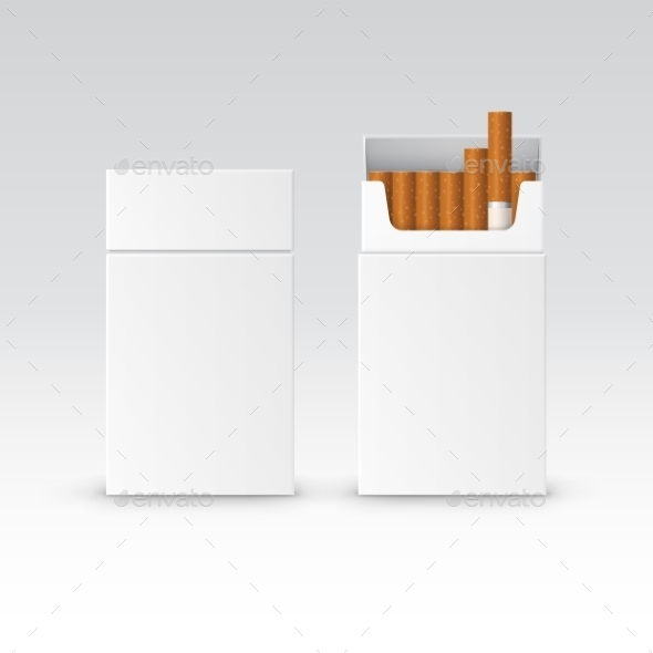Vector Blank Pack Package Box Of Cigarettes - Miscellaneous Vectors