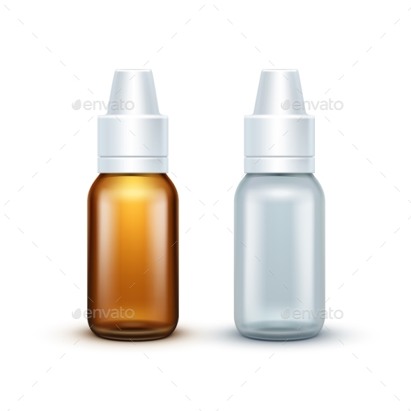 Vector Blank Glass Medical Spray Bottle Isolated - Miscellaneous Vectors
