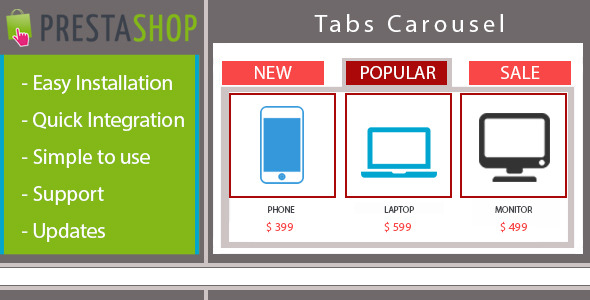 Responsive home page Carousel with Products in Tabs  - CodeCanyon Item for Sale