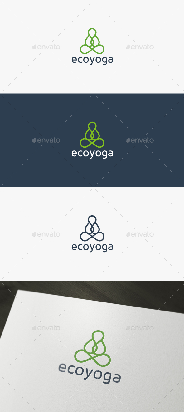 Eco Yoga - Logo Template - Nature Logo Templates