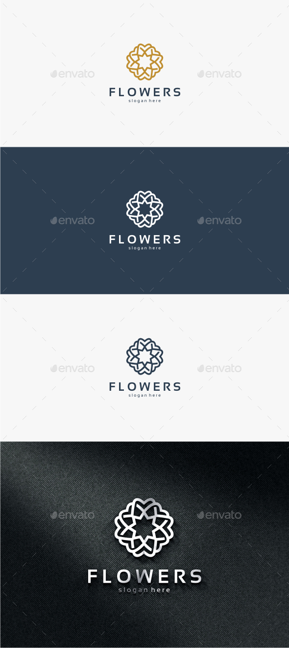 Flowers - Logo Template - Crests Logo Templates