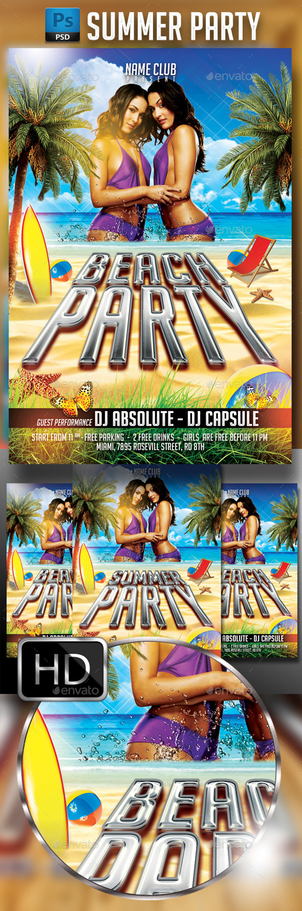 Summer Party Flyer Template 4 - Events Flyers