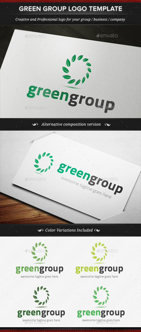 Green Group Logo Template - Nature Logo Templates
