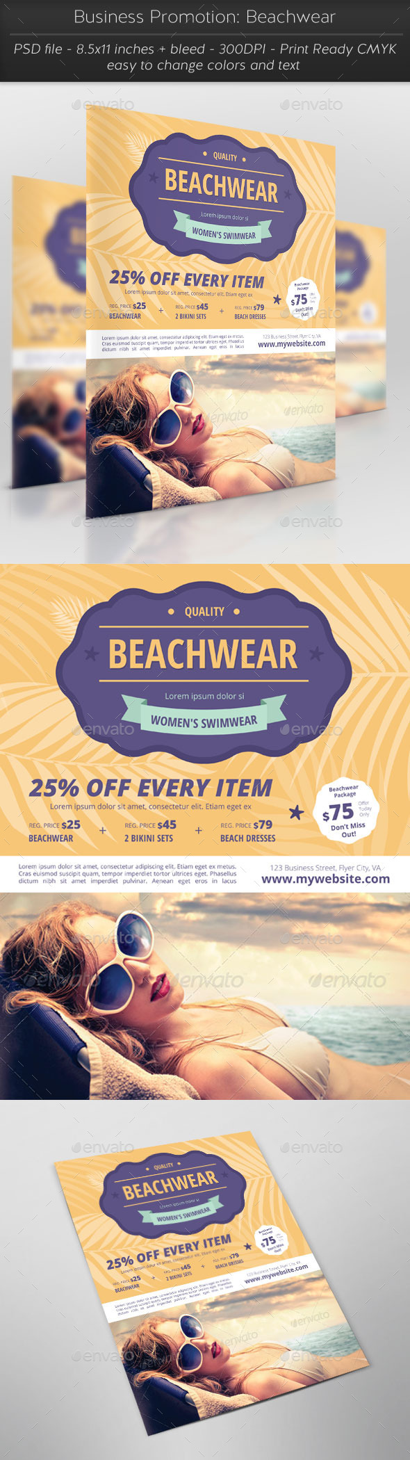 Business Promotion: Beachwear - Flyers Print Templates