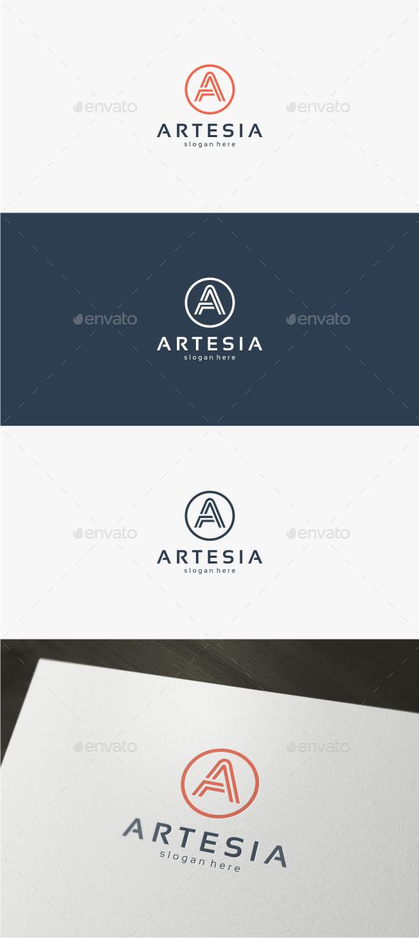 Artesia Letter A - Logo Template - Letters Logo Templates