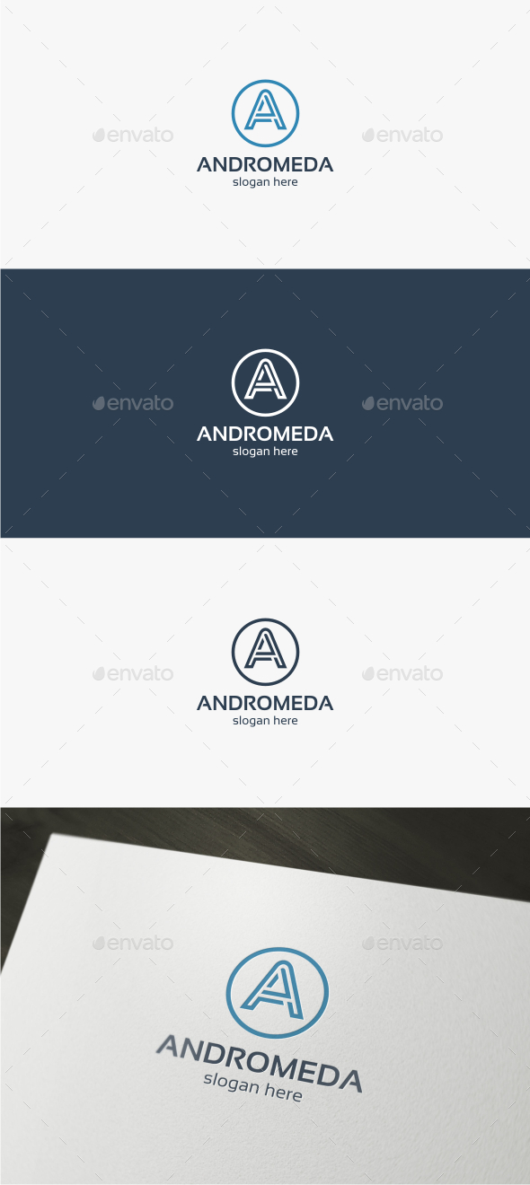 Andromeda Letter A - Logo Template - Letters Logo Templates