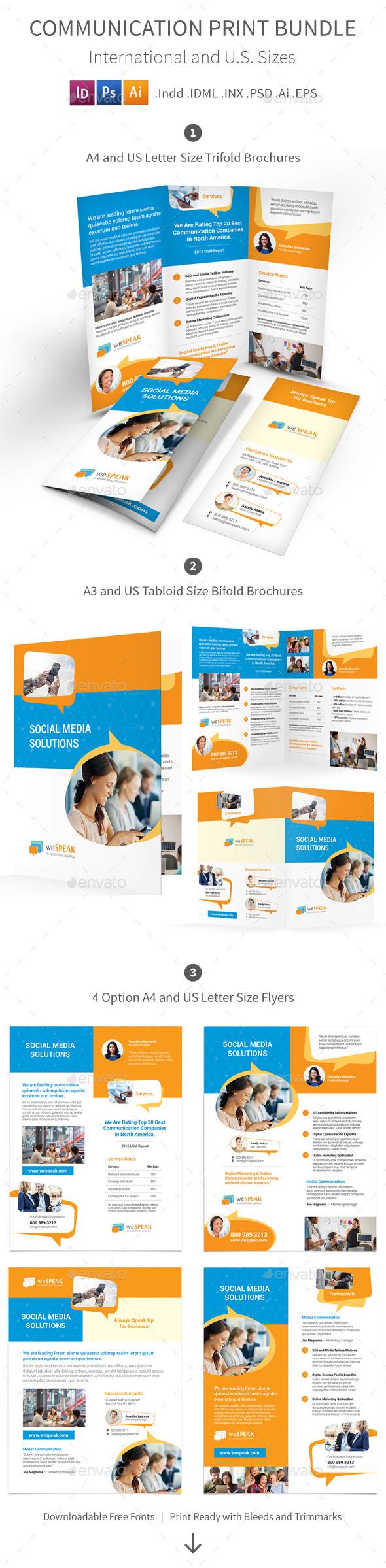 Communication Print Bundle - Informational Brochures