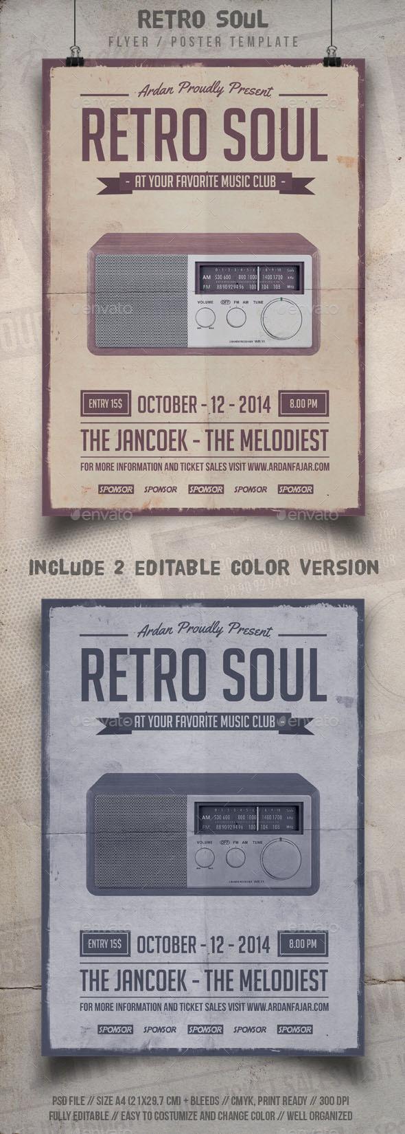 Retro Soul Flyer Template - Events Flyers