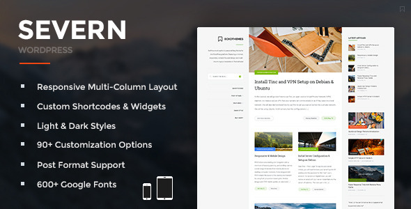 Severn – Responsive WordPress Blog Theme