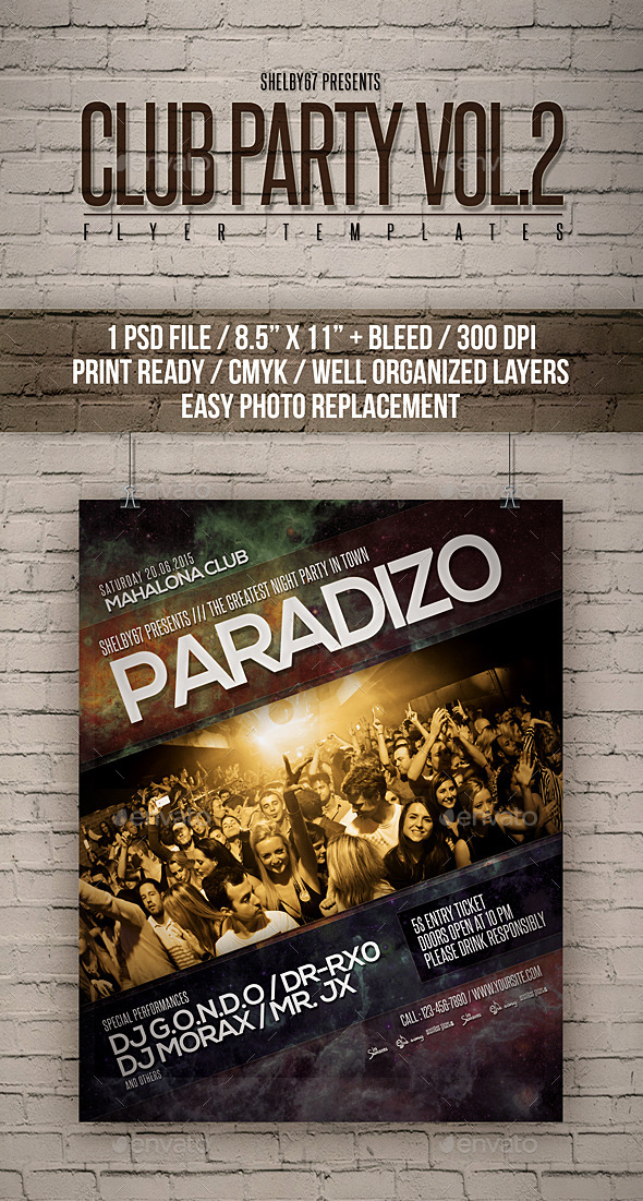 Club Party Flyer Templates Vol 2 - Clubs & Parties Events
