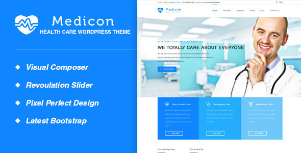Medicon - Health and Medical WordPress Theme