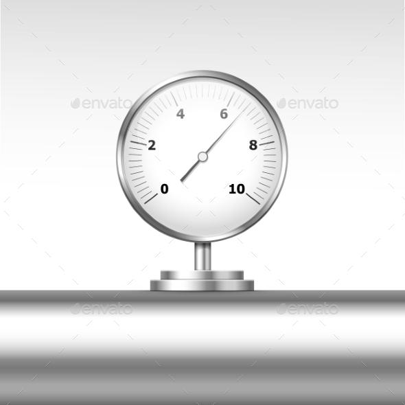 Vector Pressure Gauge Manometer Isolated - Miscellaneous Vectors