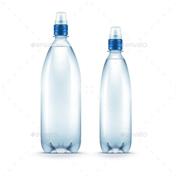 Plastic Blue Water Bottle Isolated - Miscellaneous Vectors
