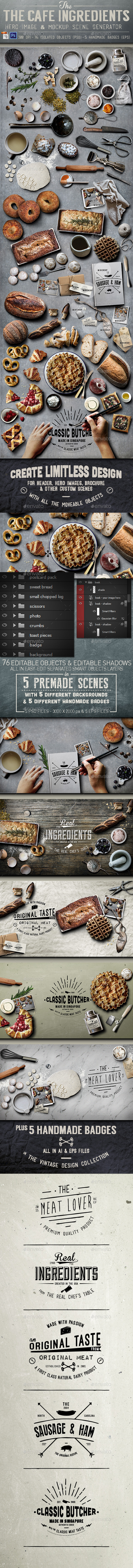 Cafe Ingredients Hero Image - Hero Images Graphics