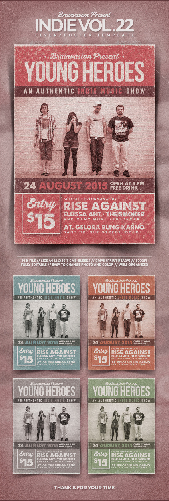 Indie Flyer Template Vol.22 - Concerts Events