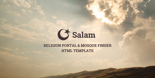 Salam - Religion Portal & Mosque Finder - Nonprofit Site Templates