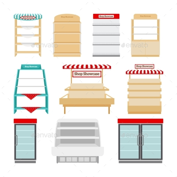 Store Shelves Or Shop Showcases - Retail Commercial / Shopping