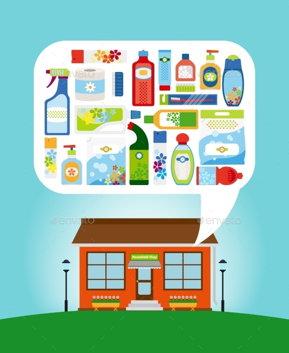Shop With Household Chemicals - Retail Commercial / Shopping