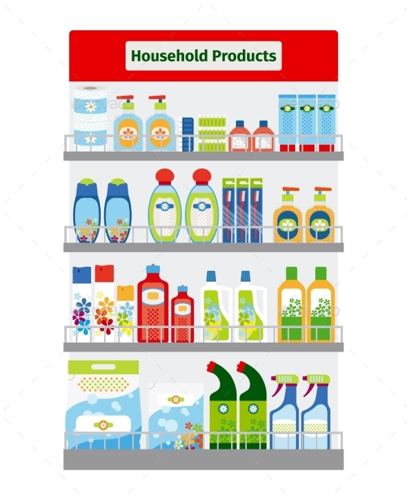 Showcase With Hygiene Items - Miscellaneous Vectors