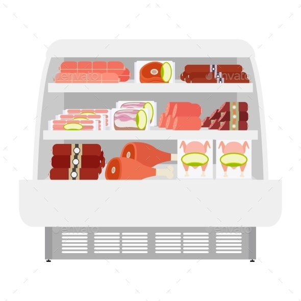 Meat Products In Store - Miscellaneous Vectors