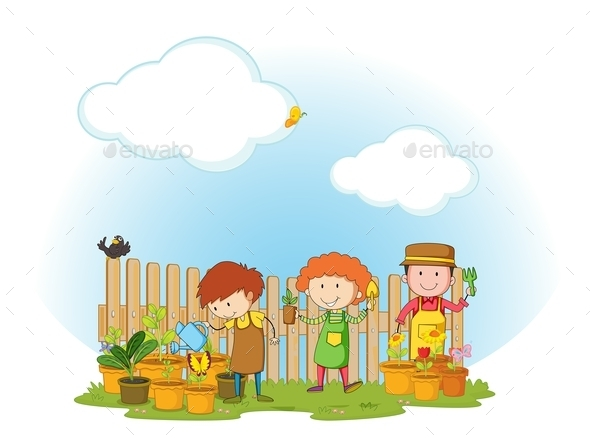 Gardening - People Characters