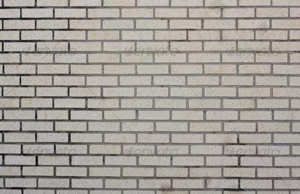 Dirty White Brick Wall - Stone Textures