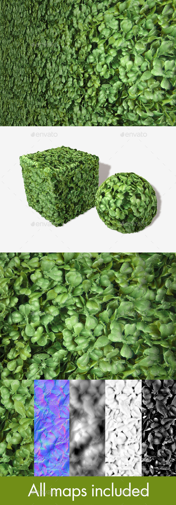 Plastic Bush Seamless Texture - 3DOcean Item for Sale
