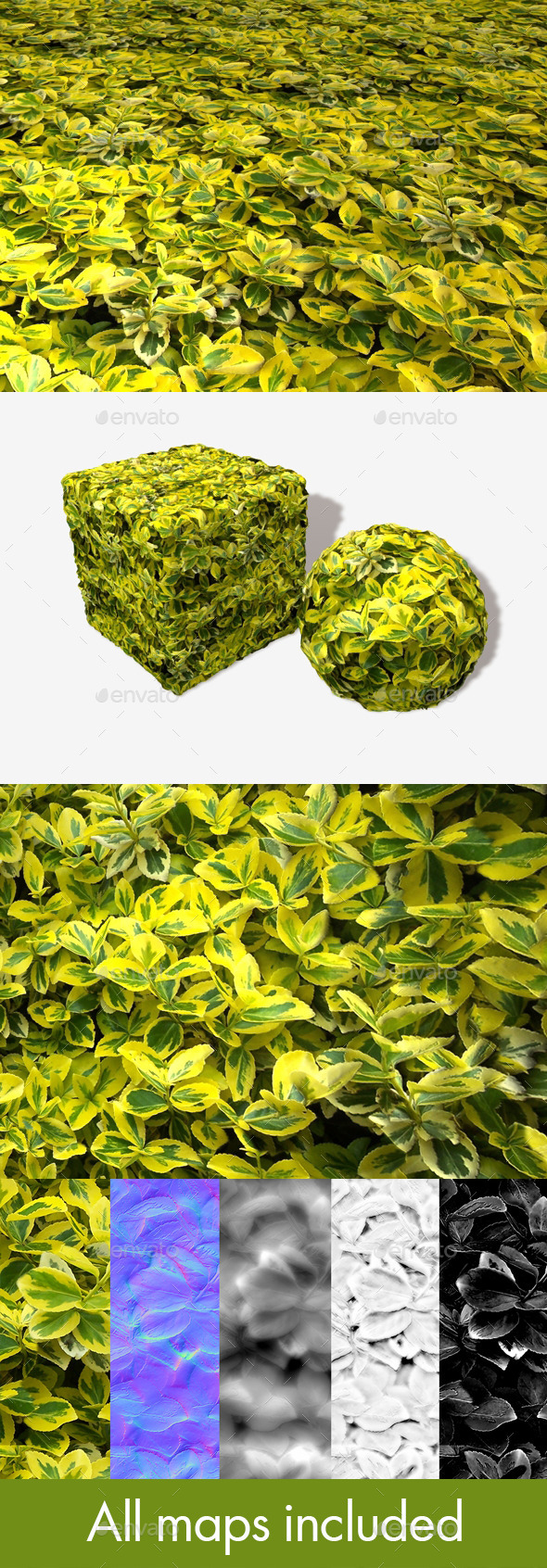 Yellow Leaves Seamless Texture - 3DOcean Item for Sale