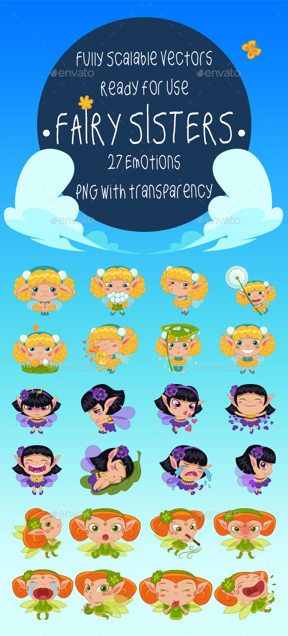 Fairy Sisters Emotion Pack - Miscellaneous Characters