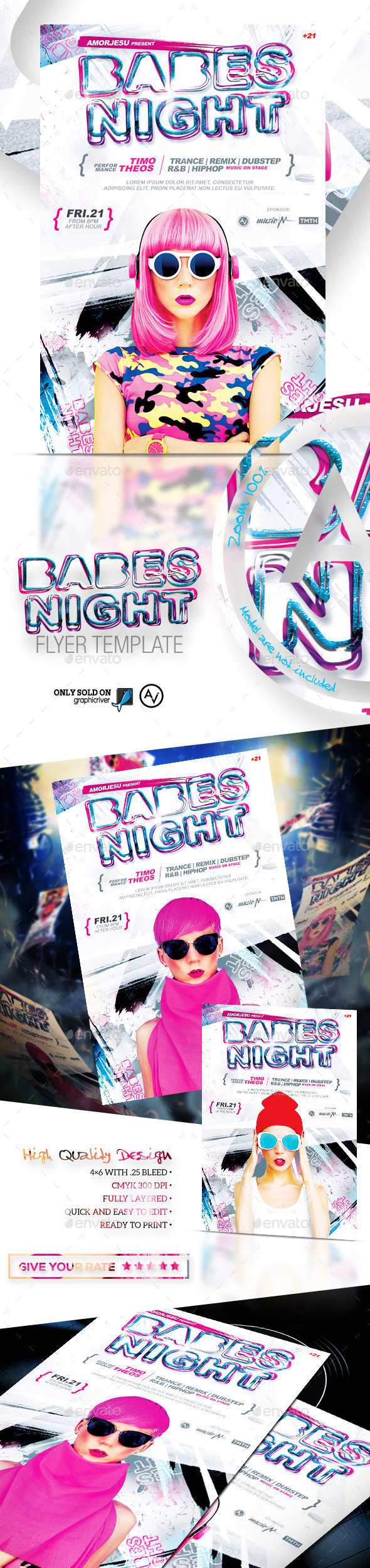 Babes Night Flyer Template - Clubs & Parties Events