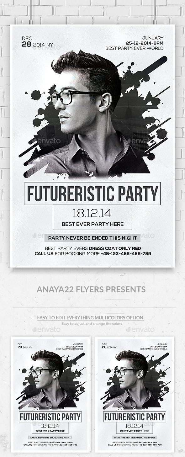Electro Concert Dj Flyer  - Clubs & Parties Events