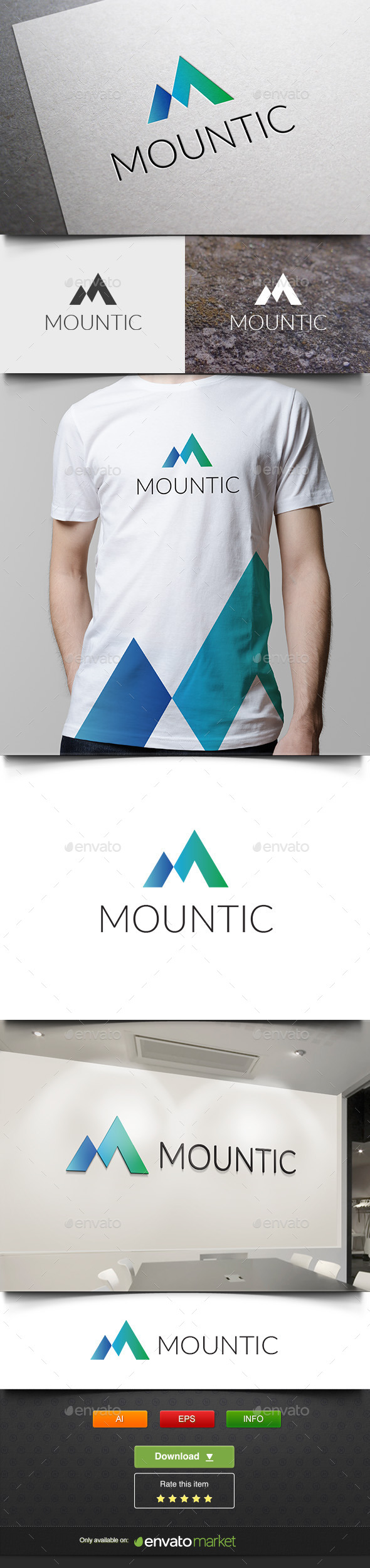Mount Ice - Letters Logo Templates