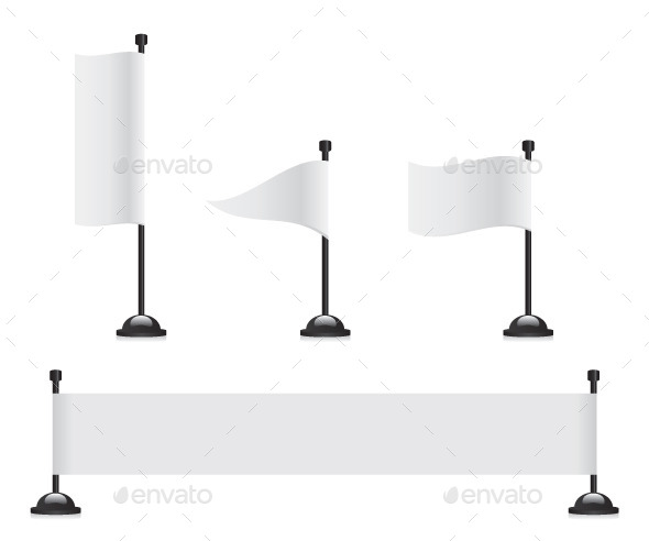 Flag Banner Set - Man-made Objects Objects