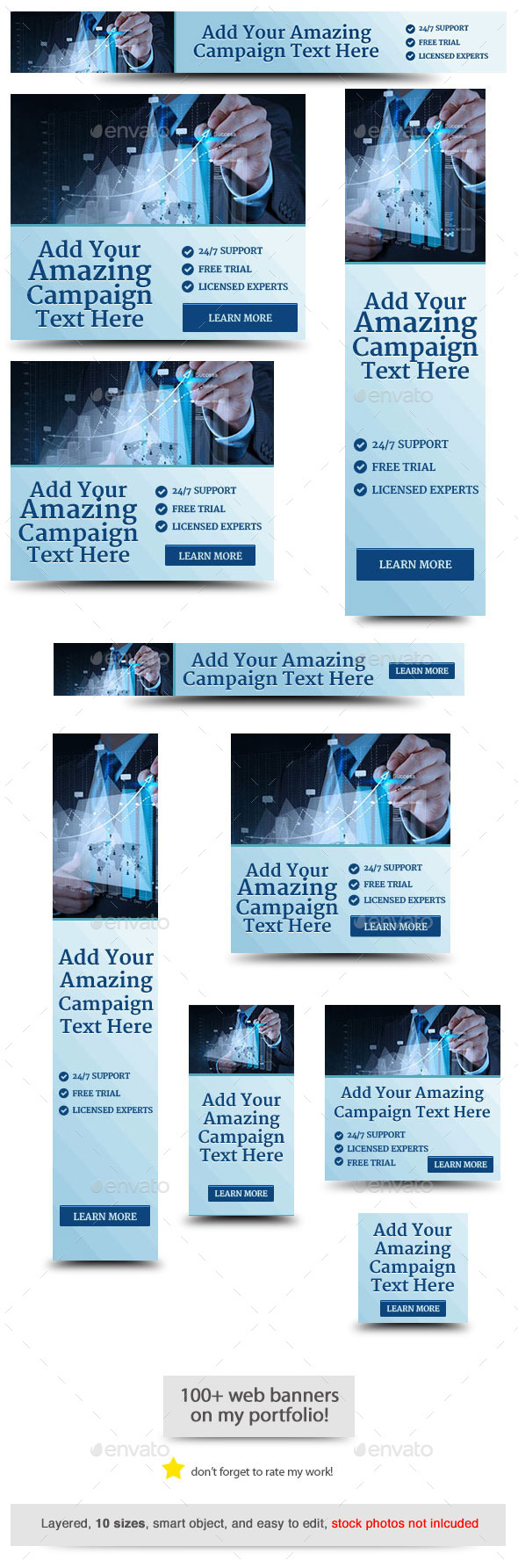Corporate Web Banner Design Template 64 - Banners & Ads Web Elements