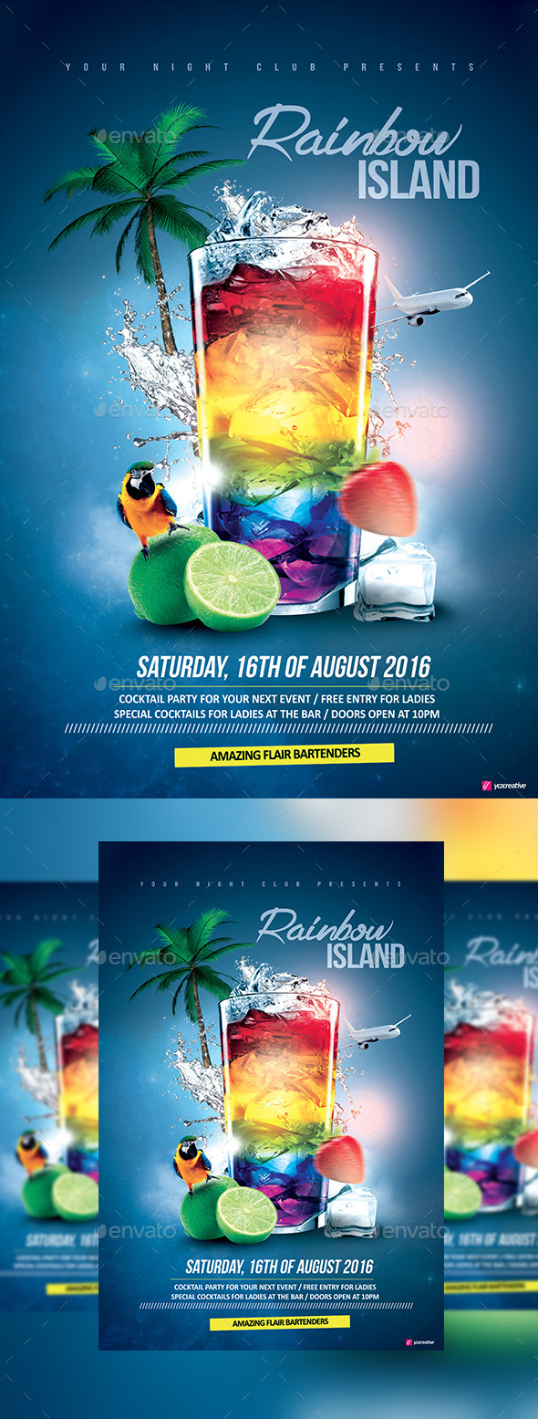 Rainbow Island Cocktail - Clubs & Parties Events