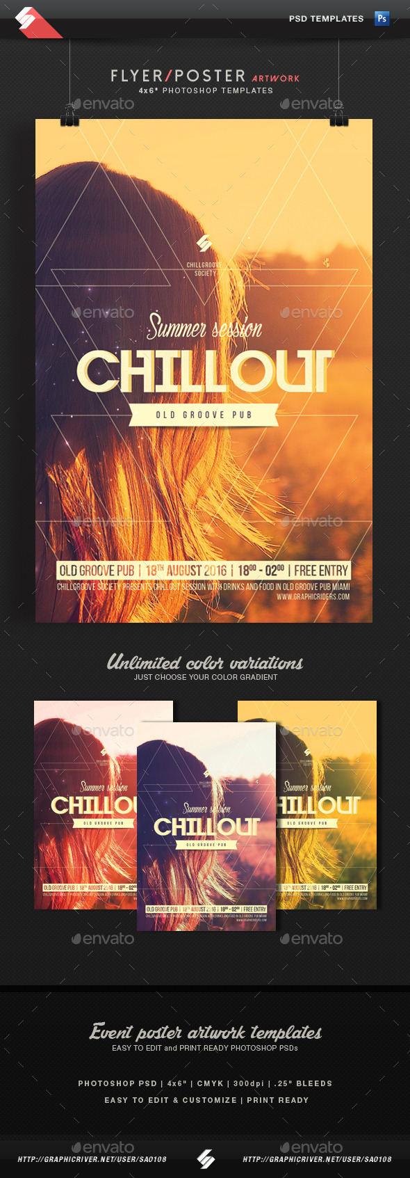 Summer Chillout Session - Flyer Template - Events Flyers