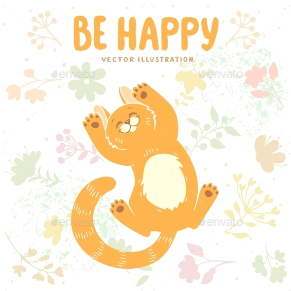 Happy Kitten - Animals Characters