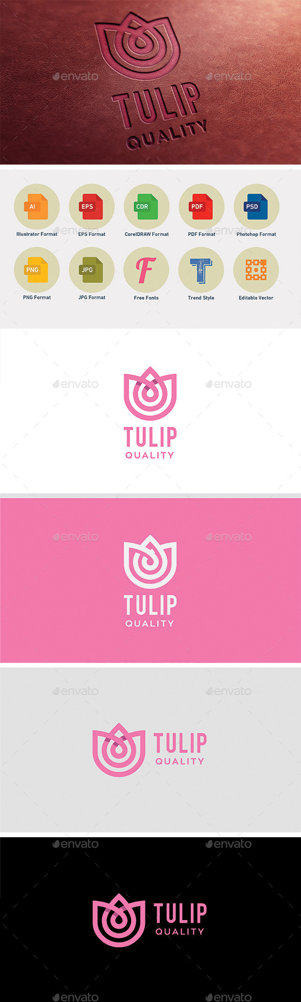 Tulip - Abstract Logo Templates