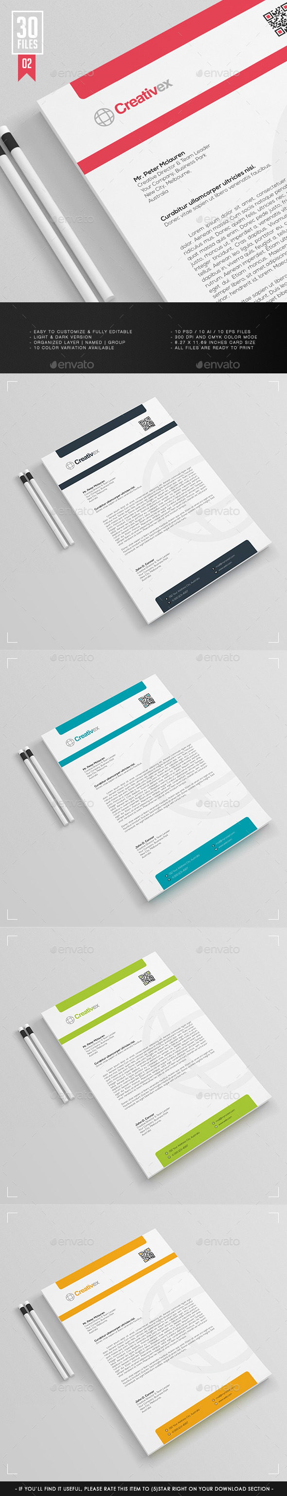 A4 30 Files - Business Letterhead V.001 - Stationery Print Templates