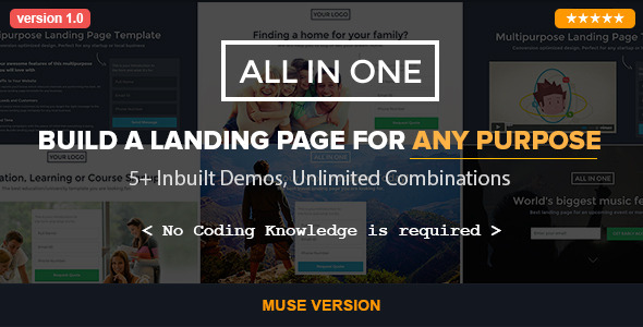 All in One – Parallax Muse Template