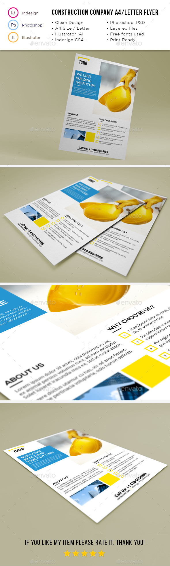 Construction Company A4 / Letter Flyer 02 - Corporate Flyers