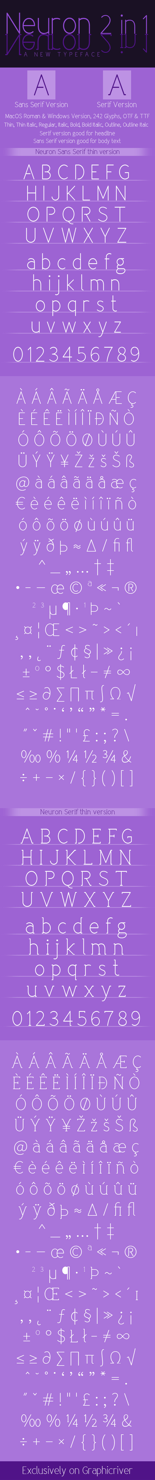 Neuron Font Family 2 in 1 - Fonts