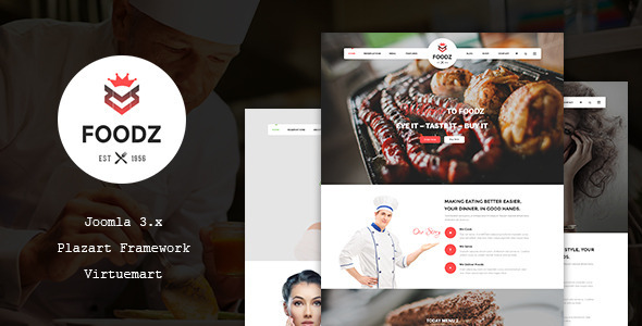 Foodz – Restaurant, Spa & Salon Joomla Template