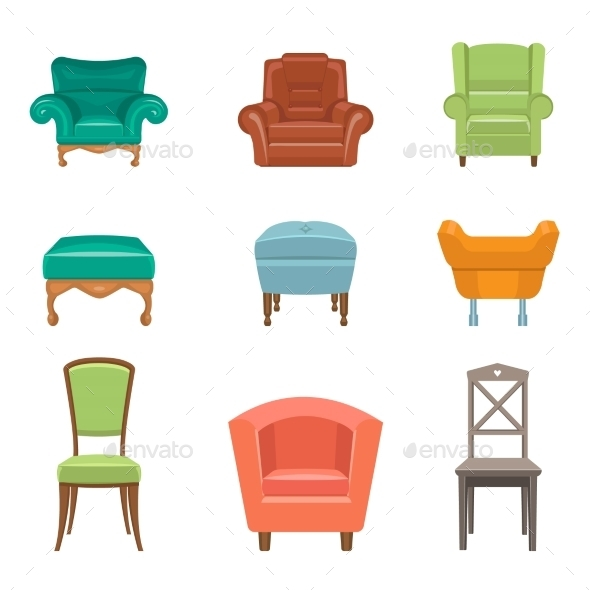 Interior Luxury and Wood Chairs  - Man-made Objects Objects