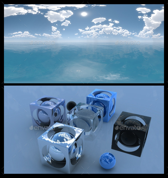 Ocean Blue Clouds 2 - HDRI - 3DOcean Item for Sale
